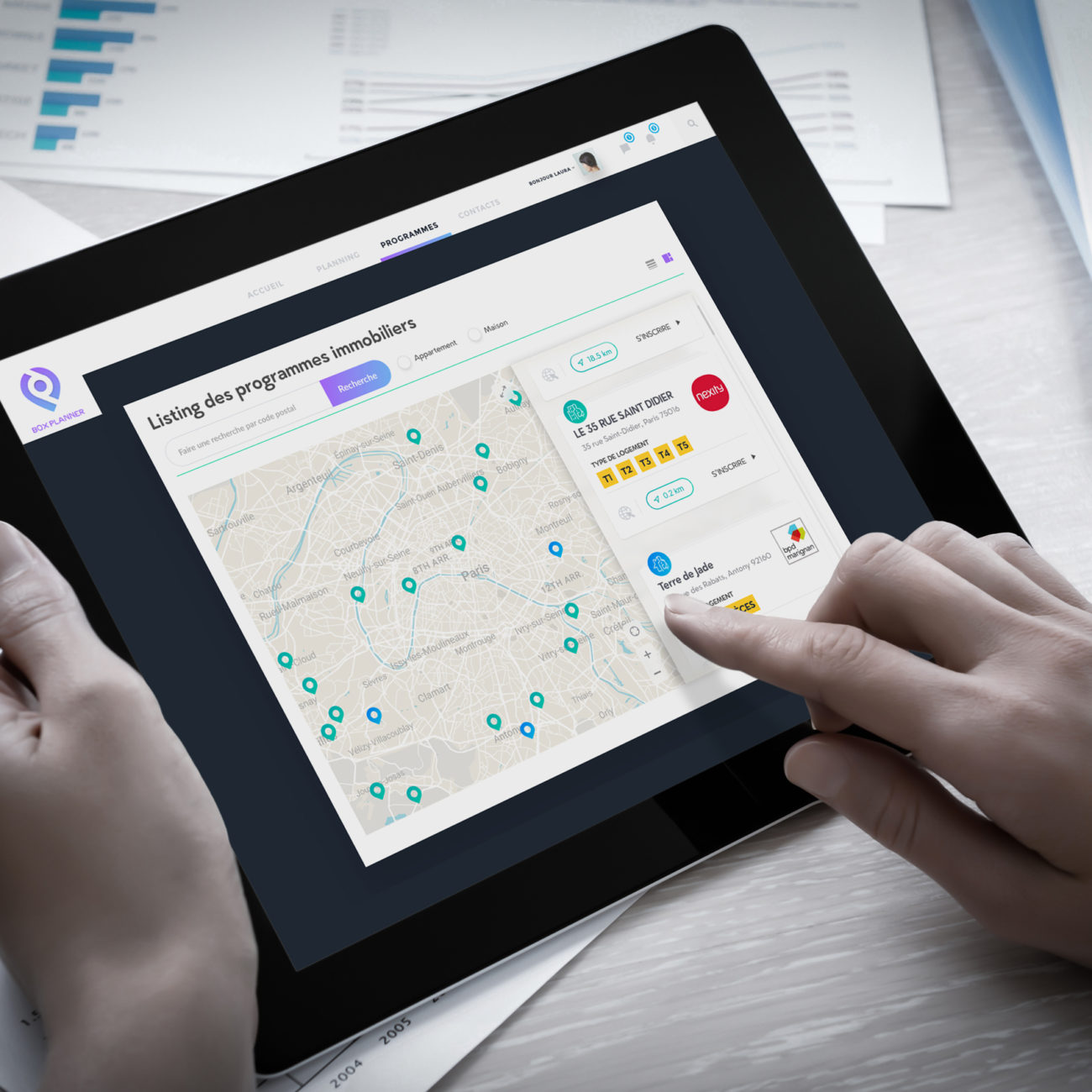 tablet version webdesign admin