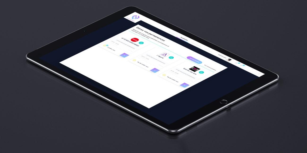 ipad version webdesign admin